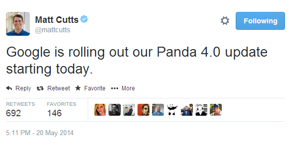 google-panda-4-tweet-matt-cutts